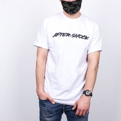 T-shirt After-Shock Logo White