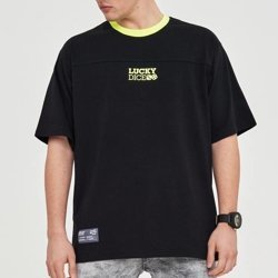 T-shirt Lucky Dice Cut Logo Black